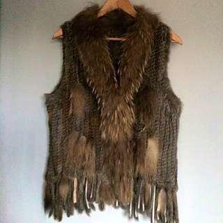 Real Rabbit Fur Vest