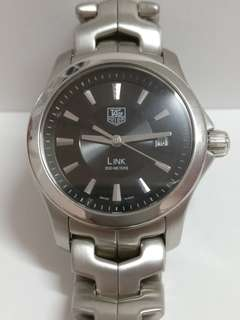 Tag Heuer Ladies Quartz Watch Link Series Black Dial Stainless Steel Band TP019