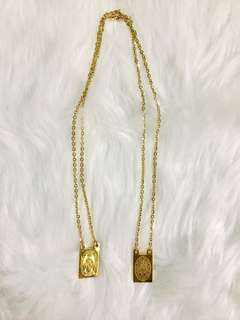 High quality stainless steel gold necklace