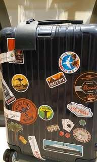 Rimowa Salsa blue cabin size. Original. With stickers.