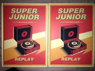 Super junior 8輯 suju sj repackage REPLAY 源碟/特碟 換 海碟 特別版童卡/普通版特卡換任何海卡 99%新只開包裝 另可平放 價錢可議