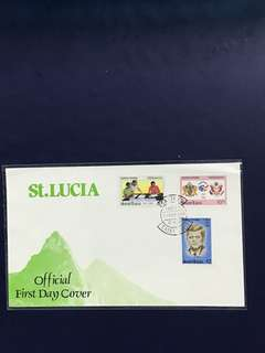 St Lucia FDC as in Pictures
