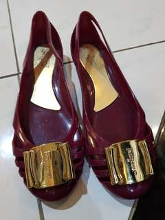 flat shoes jelly sf mirror quality
