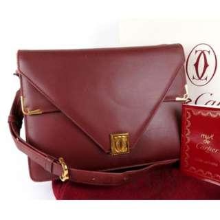 [預訂]Vintage Cartier Shoulder Bag 有盒有塵袋