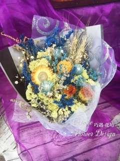 🚚 乾燥花束-藍色星空款