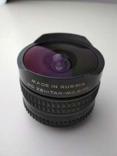 Zenitar fish eye lens 16mm F2.8 for Sony E