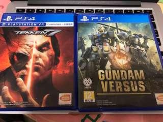 PS4 Game 鐵拳7 & 高達Gundam Versus