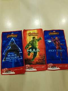 All for $6.00 - Avengers Face Towels Collectible Free Postage