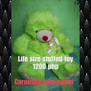 Yellow green Life size stuffed toy