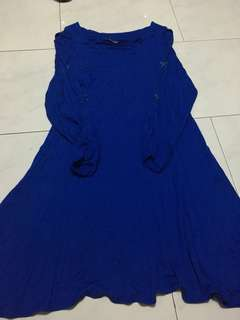 Sianeder Electric Blue Dress