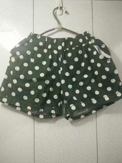 🚚 日系 圓點點口袋短褲