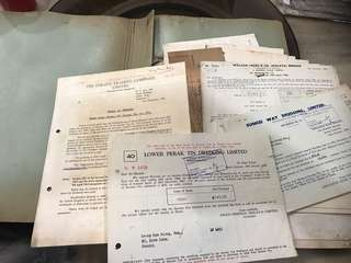 Large lot of Vintage Documents with Manila File