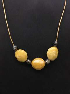 Amber solid crystal necklace (new)