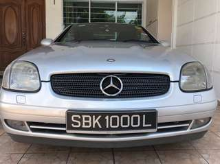 Mercedes Benz SLK200 (Car Plate SBK1000L)