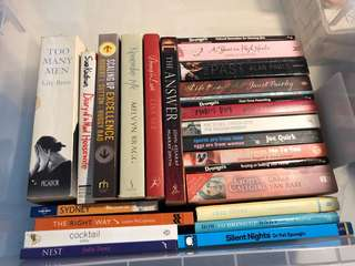 BULK READING BOOKS FICTION NOVELS SELF HELP