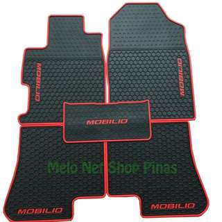 Premium Rubber Floor Matting for Honda Mobilio Red Lining