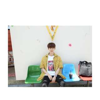 [Lion Wardrobe] 格仔恤衫/free size/3色/韓國直送/免順豐運費