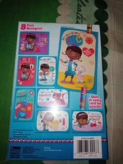 Paper Magic Disney Junior Doc McStuffins 16 Valentines with 16 Pencils