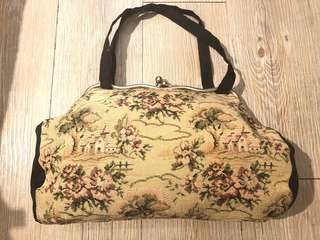 La Blanche vintage 1960s tapestry 古董 復古 織布 手袋