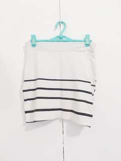 White pencil skirt with Black Stripes