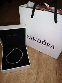 REPRICED!!! PANDORA Charm Bracelet - Sterling Silver 18CM