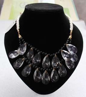 Multi Layer Water Drop Statement Necklace