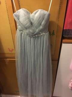 灰色鑲石姊妹裙