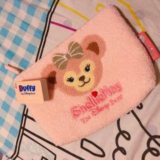全新連吊牌Disneyland ShellieMay粉紅剌繡化妝袋