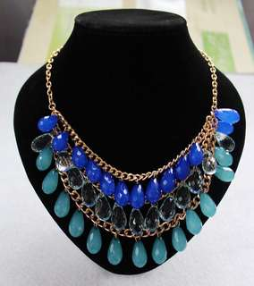 Water Drop Multi Layer Statement Necklace