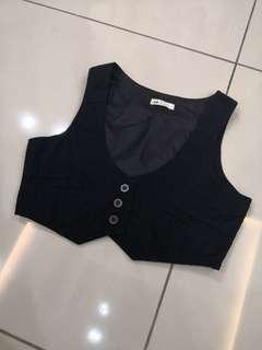 H&M Black Vest (12-13t)