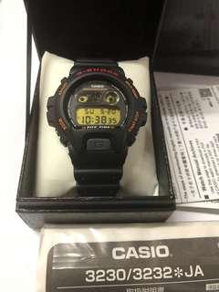 Casio G Shock DW-6900B-9 Fox Fire Made in Japan