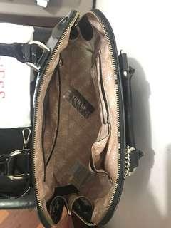 Guess black hand bag