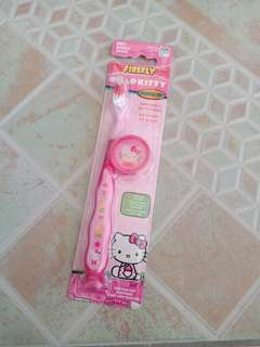 Firefly Hello Kitty Travel Kit Toothbrush with Cap & Suction Bottom Soft Bristles