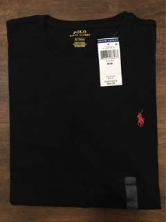 RALPH LAUREN T SHIRT BLACK SMALL