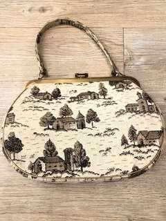La Blanche Vintage tapestry handbag 古董 復古50's屋仔 織錦 小手袋