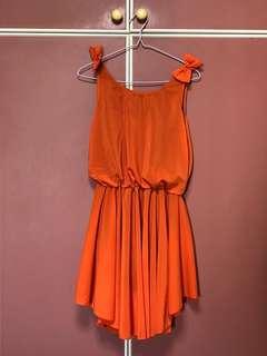 (New) Orange dress with rounded bottom