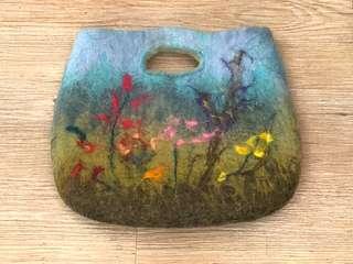 La Blanche Vintage handbag 羊毛氈 復古小手袋