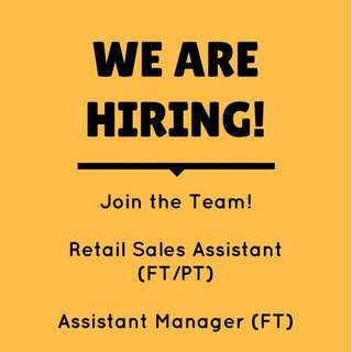 JOB - Assistant Manager (Full Time)