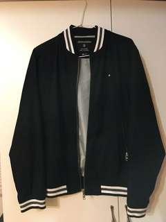 韓國購✨黑白棒球外套
