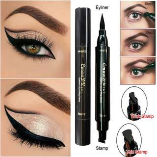 🦋Eyes Makeup Double Head Black Quick Dry Vamp Stamps Tool🦋