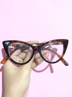Kacamata Cat Eye - Motif Leopard