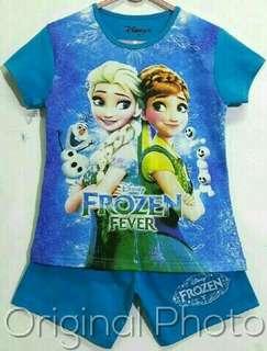 Kaos anak frozen 7-10