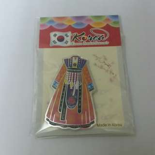 包郵 購自韓國 韓服磁石貼