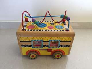 Wooden Activity School Bus Toy