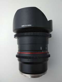 Samyang 14mm t3.1 cine lens for sony e mount