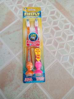 Firefly Light-uP Timer Toothbrush with Suction Cup, Soft Bristles 2ct