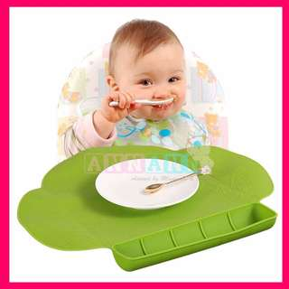 TinyDiner Silicone Waterproof Placemat★Suction Portable Mess-Free★Travel Portable Suction No Mess Table Mat★Baby Child Kids Dining Feeding Mat★