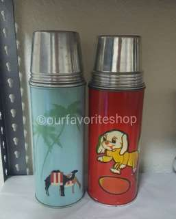 Vintage Small Thermo Flask Set