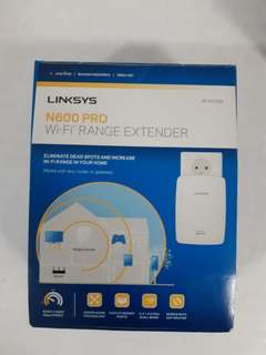 COND: USED LINKSYS PRO N600 DUAL BAND WiFi Extender (MODEL NO: RE4000W)