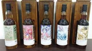 山海經 威士忌 5支 The Whiskyfind 威士忌坊 系列 1-5 scotland whisky 蘇格蘭威士忌 (Glen Moray, Miltonduff, Glen Garioch, Caol Ila, Bunnahabhain)